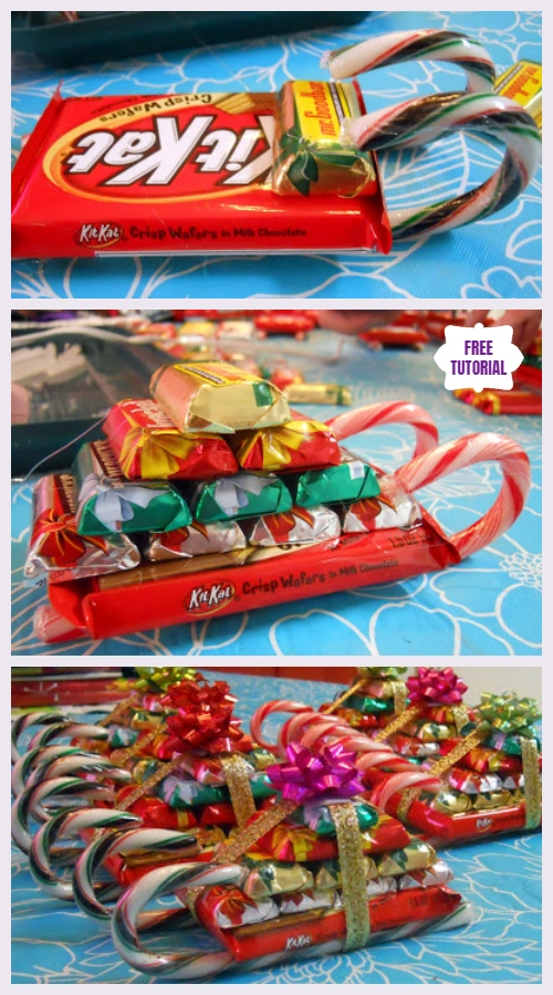 DIY Candy Cane Sleighs Express Christmas Gifts Pack - Easy Tutorials