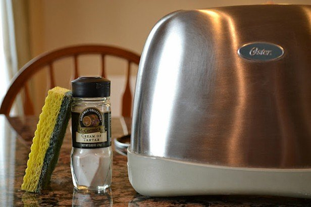 16 DIY Cleaning Hacks - Clean and Shine stainless steel appliances with Tartar cream