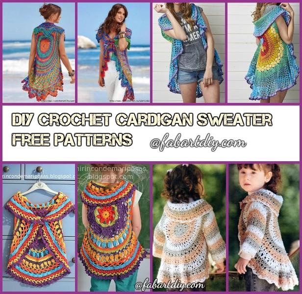 DIY Crochet Circle Cardigan Sweater Free Crochet Patterns & Paid