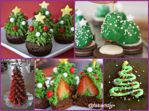 DIY Strawberry Christmas Tree Brownie