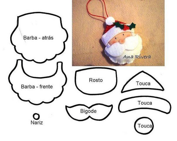 photograph relating to Free Printable Christmas Ornament Patterns named Do-it-yourself Felt Xmas Ornament Behavior and Template
