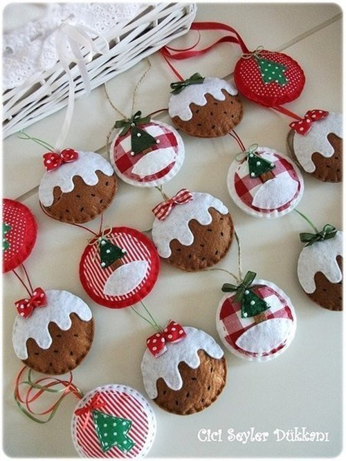 DIY Felt Christmas Ornament Tutorials - Free Templates Pudding