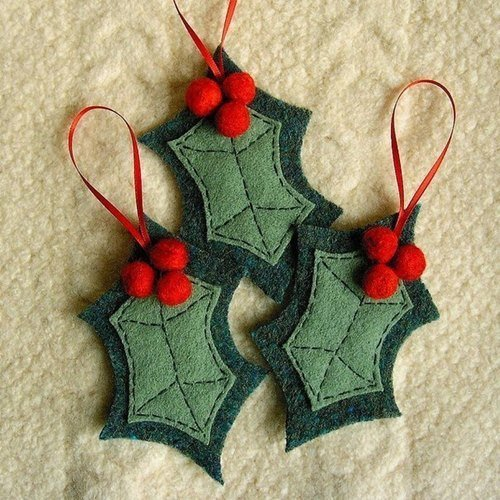 DIY Felt Christmas Ornament Tutorials - Free Templates