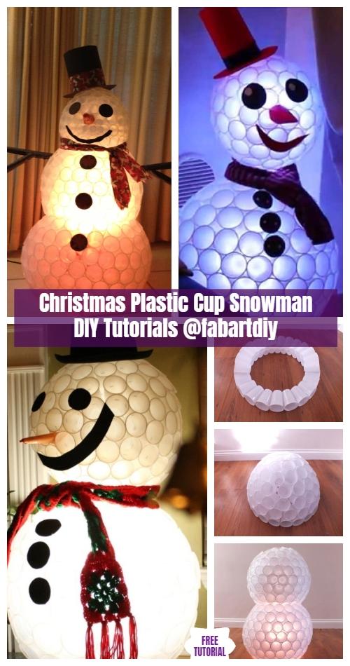 DIY Plastic Cup Snowman Christmas Decoration Tutorials - Video