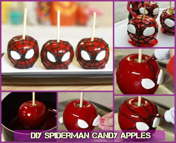 DIY Spiderman Candy Apples Recipe Tutorial with Video