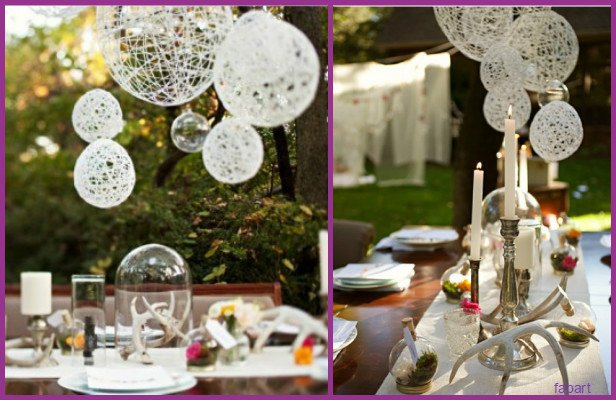 DIY Outdoor String Ball Decoration for Christmas