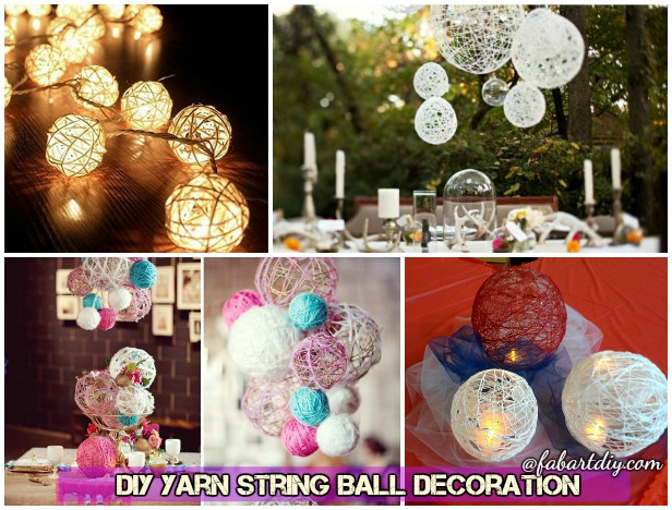 How To Make Decorative String Balls Impressive Diy Pretty String Ball Decoration For Christmas Decorating Design