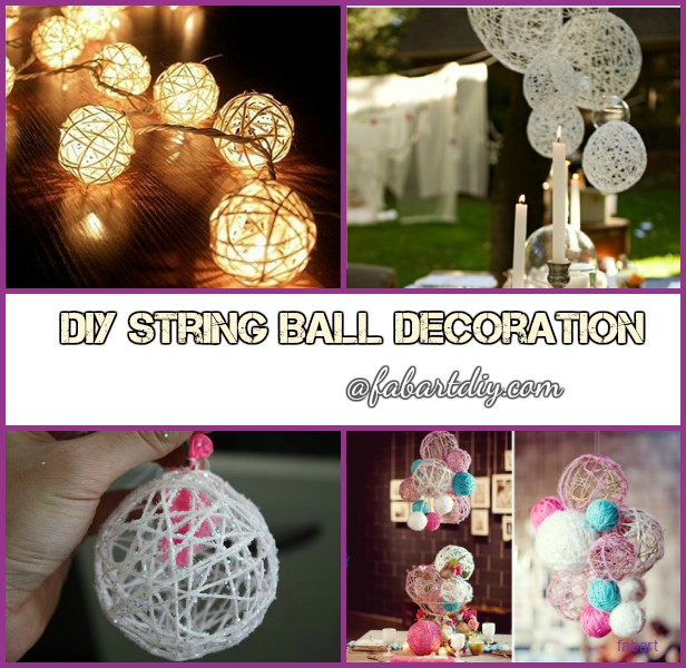 DIY Yarn String Ball Decoration Christmas Wedding Outdoor Light