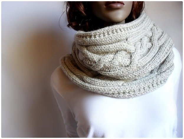 DIY Women Cable Knitted Sweater Cowl-Vest (Video)