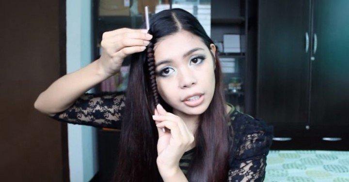Straw Curls Hack No Heat Spiral Curls Using Drinking Straw