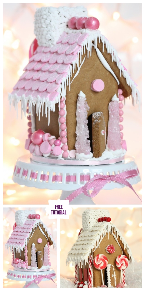 DIY Christmas Crackers Cottage Tutorials - Making a Gingerbread House DIY Tutorial