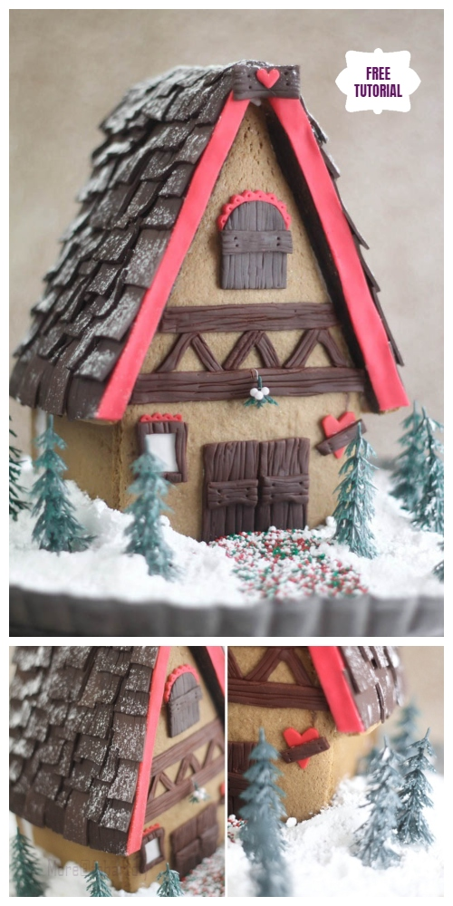 DIY Christmas Crackers Cottage Tutorials - DIY Gingerbread house Dough Tutorial