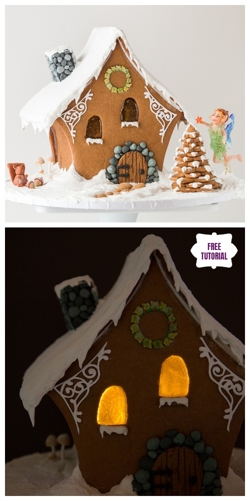 DIY Christmas Crackers Cottage Tutorials -DIY  A Very Fairy Gingerbread House Tutorial