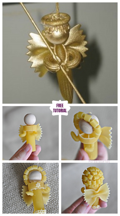 DIY Pasta Angel Ornament for Christmas - Easy Tutorial