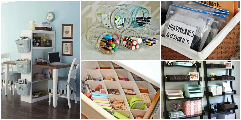 organize office. 20+ Clever DIY Ways And Hacks To Organize Your Office