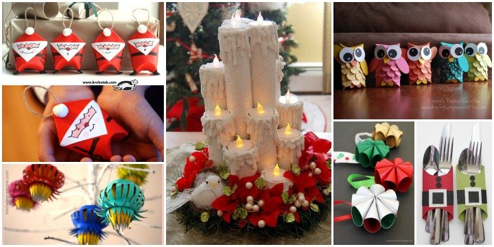 20+ Toilet Paper Roll Christmas DIY Craft Projects for A  ~ 043503_Christmas Decoration Ideas Using Toilet Paper Rolls