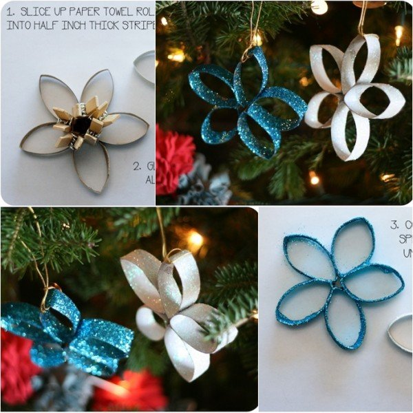 DIY Toilet Paper Roll Christmas Ornament