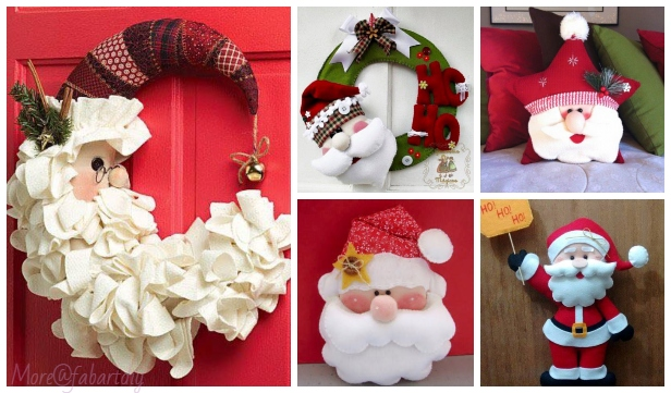 Christmas Craft: DIY Santa Claus Sewing Free Patterns & Inspirations