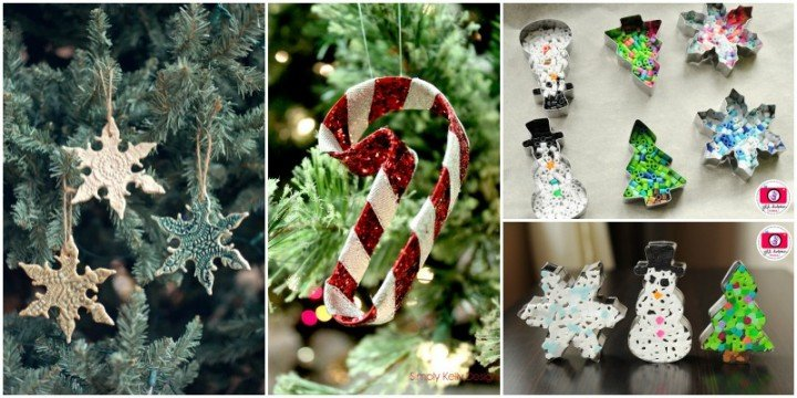 DIY Creative Christmas Ornaments DIY from Cookie Cutters - Easy Tutorials