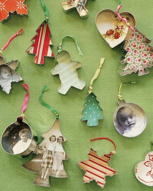 Creative Christmas Ornaments DIY from Cookie Cutters