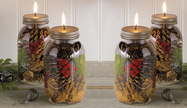 DIY Mason Jar Oil Candles Tutorial