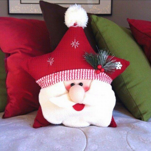 DIY Star Santa Pillow Sewing Inspiration