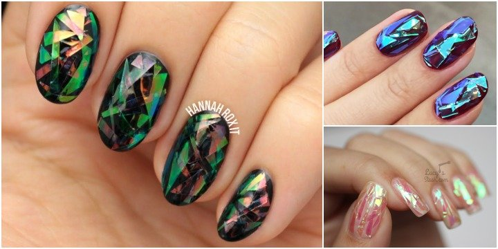 DIY Stunning Shattered Glass Nails