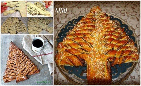 20+ Super Cute Christmas Treats DIY Ideas For This Holiday - Christmas Tree bread Tutorial
