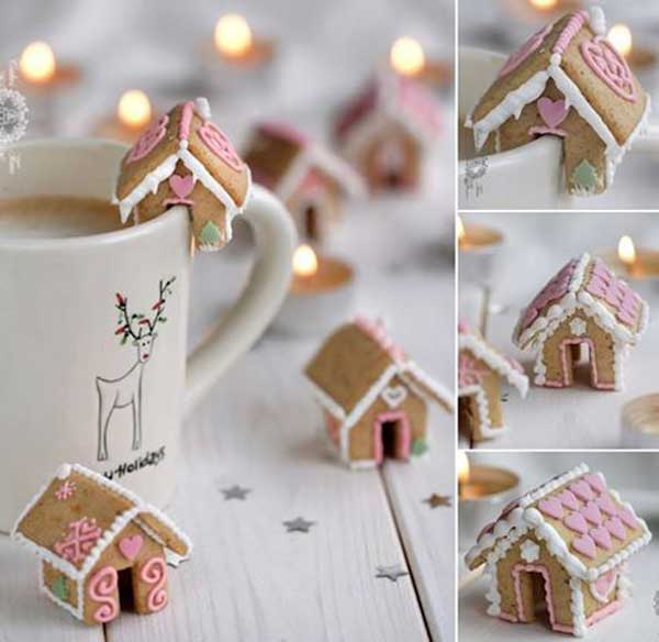 20+ Super Cute Christmas Treats DIY Ideas For This Holiday - Mini Gingerbread House Tutorial