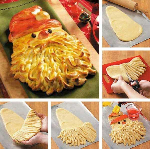 20+ Super Cute Christmas Treats DIY Ideas For This Holiday - Santa BreadTutorial