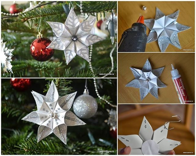 DIY Snowflake Flower Christmas Ornament