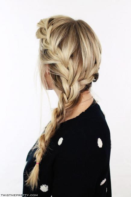 How to Make French Braid Hairstyle Tutorial - Both Side French Braid