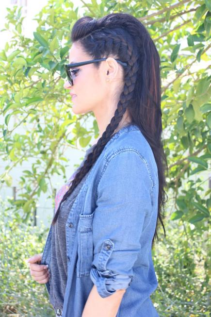 How to Make French Braid Hairstyle Tutorial - French Braid Faux Hawk