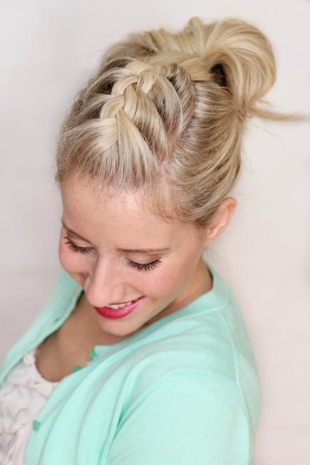 How to Make French Braid Hairstyle Tutorial-French Braid pompadour