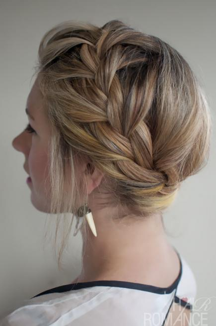 How to Make French Braid Hairstyle Tutorial-French Crown Braid
