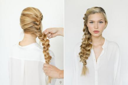 How to Make French Braid Hairstyle Tutorial - frozen's elsa french braid