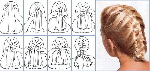 Magnificent How To Do A Quick French Braid Braids Hairstyle Inspiration Daily Dogsangcom