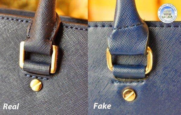 d3457cc6ab95 How to Spot A Fake Vs Real Michael Kors Handbag