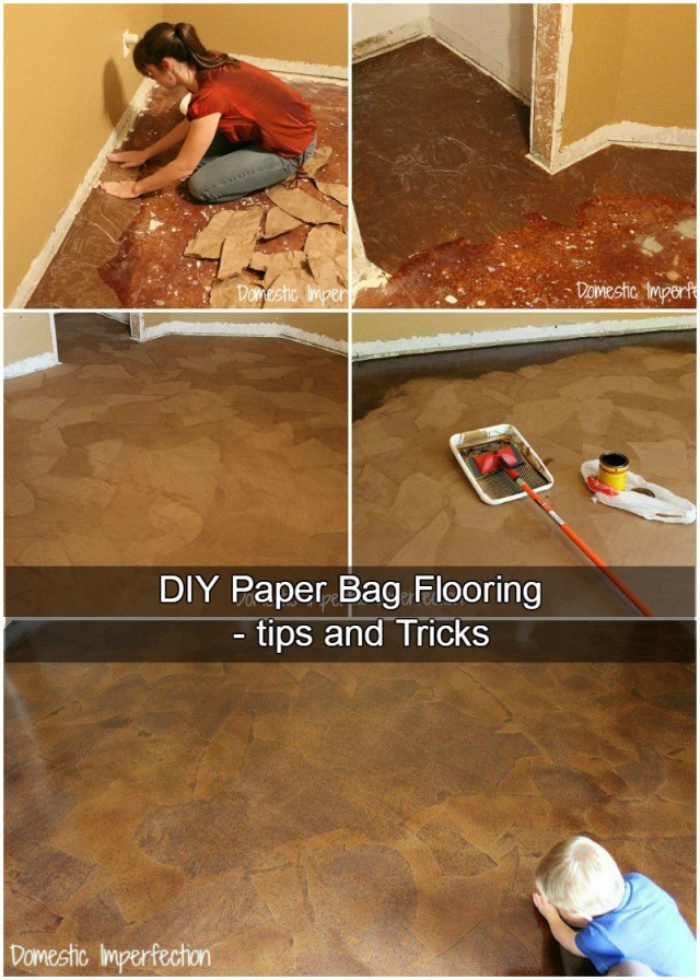 Tips and Tricks to DIY Paper Bag Flooring