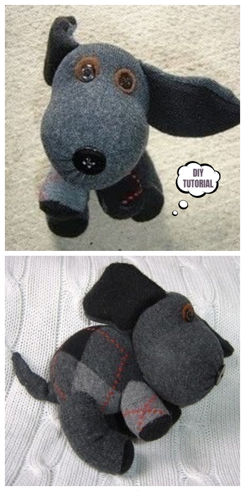 20 Adorable Sock Toys DIY Tutorials You Will Love to Make - DIY Sock Puppies Tutorial
