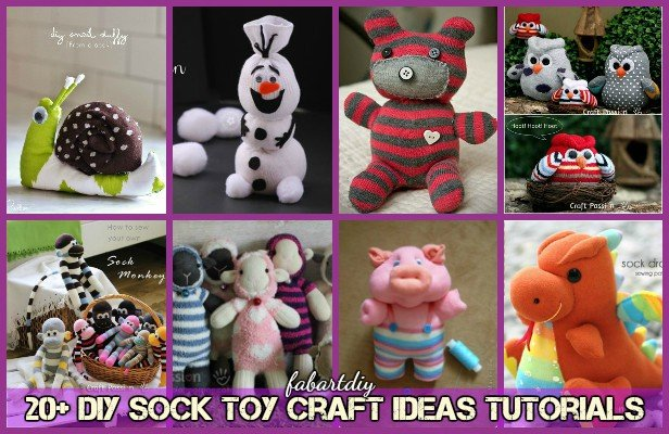 20+ DIY sock toy craft ideas tutorials