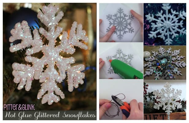 DIY Hot Glue Snowflake Christmas Ornament Tutorial + Video