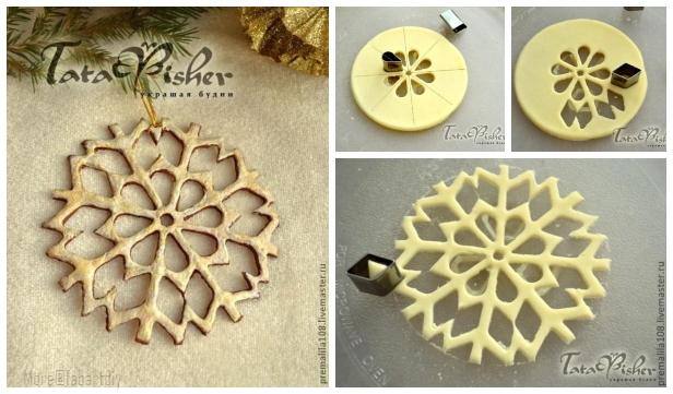DIY Salt Dough Snowflake Ornament for Christmas - Easy Tutorial