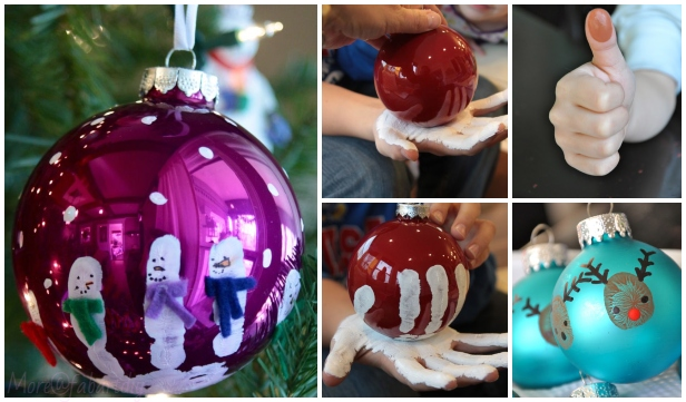 Kids Craft: DIY Handprint Christmas Ornaments Tutorials
