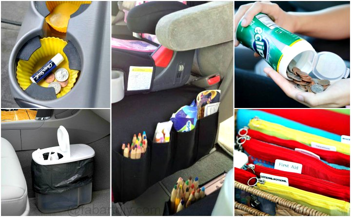 12 Brilliant Hacks To Keep Your Car Organized and Clean