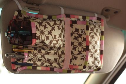 12 Brilliant Hacks To Keep Your Car Organized and Clean - sew a Visor Organizer