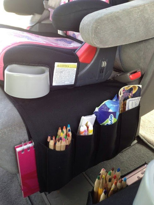 12 Brilliant Hacks To Keep Your Car Organized and Clean-Flort turned into Car Organizer for Kids