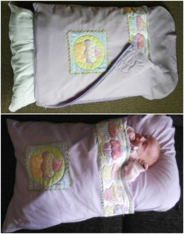Baby Pillowcase Design: DIY Baby Pillowcase Sleeping Bag Patterns and Tutorial (Video),