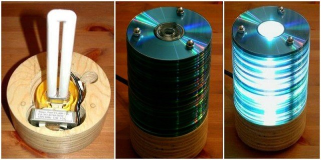 DIY CD Lamp from old CDs