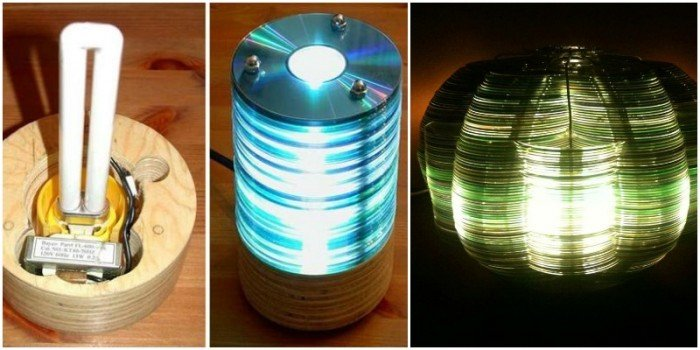 Diy Recycled Cd Lamp